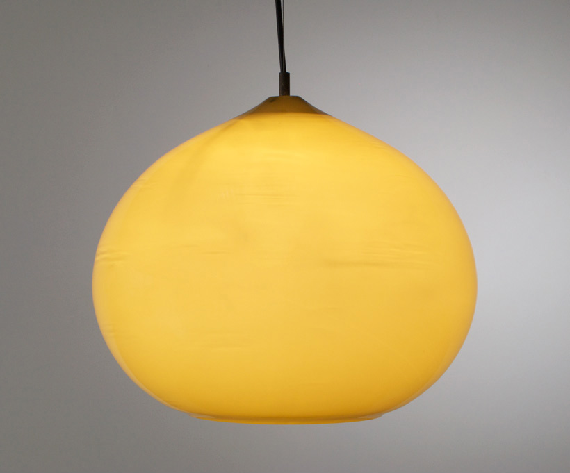 Alessandro Pianon Vistosi green onion ceiling lamp