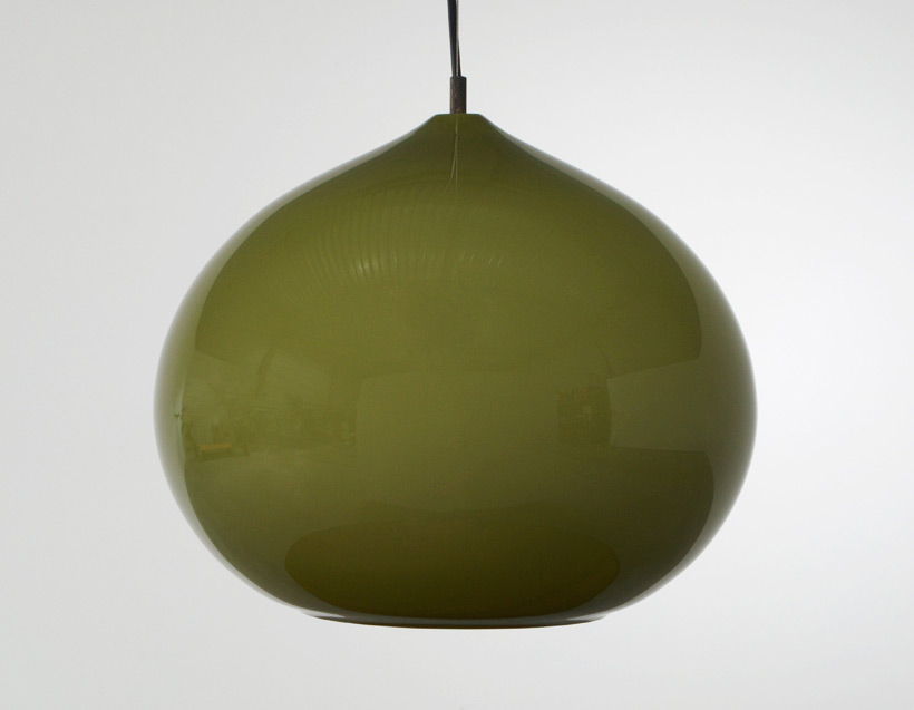 Alessandro Pianon Vistosi green onion ceiling lamp img 5