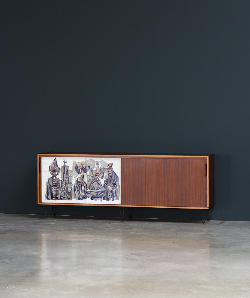 Alfred Hendrickx Belform Large Sideboard 308 Willy Meysmans Ceramic