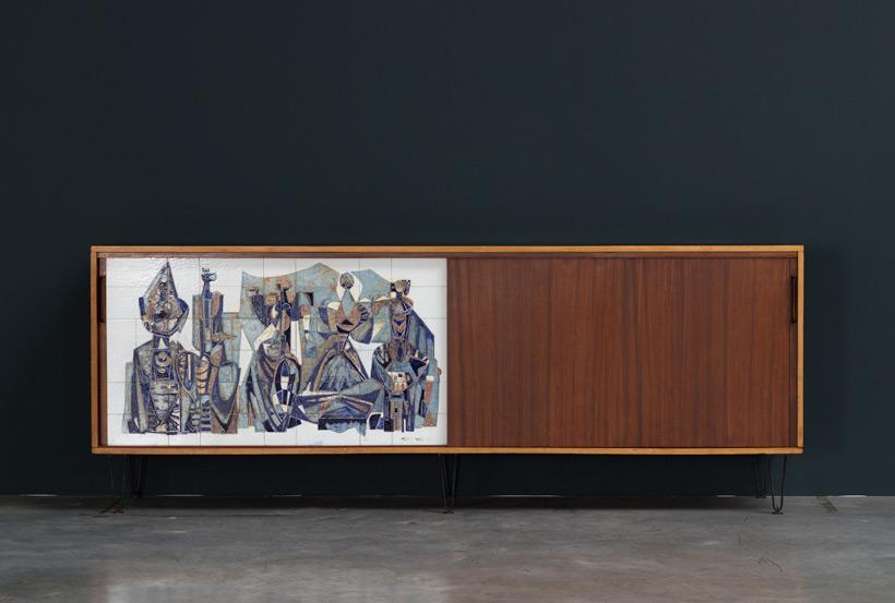 Alfred Hendrickx Belform Large Sideboard 308 Willy Meysmans Ceramic Large