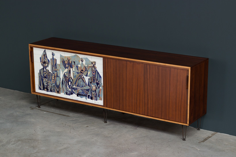 Alfred Hendrickx Belform Large Sideboard 308 Willy Meysmans Ceramic img 4