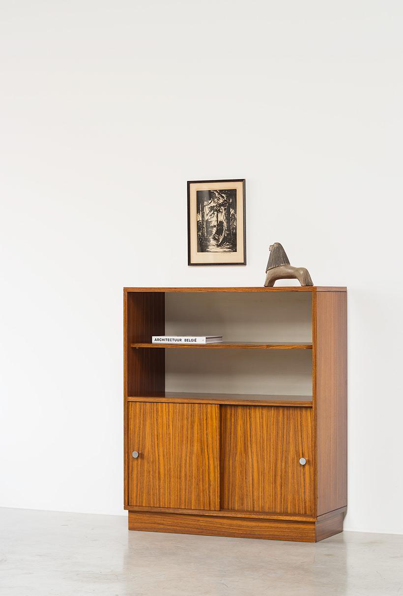 Alfred Hendrickx cabinet N54 for Belform Zebrano wood 1960