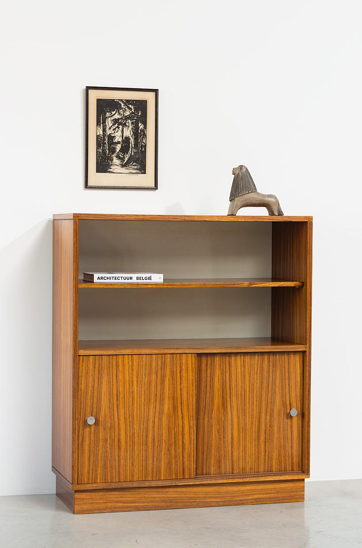 Alfred Hendrickx cabinet N54 for Belform Zebrano wood 1960 img 9