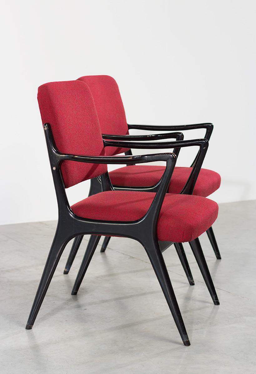 Alfred Hendrickx pair armchairs model S5 Belform