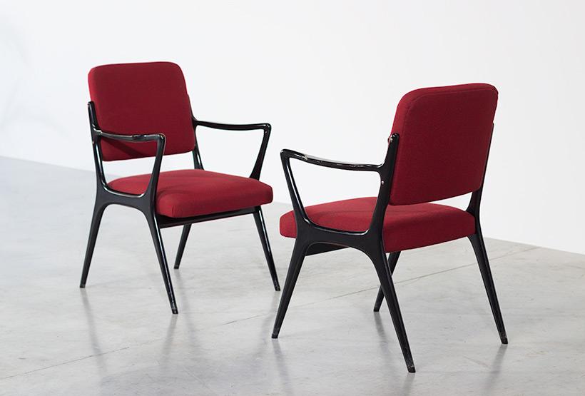 Alfred Hendrickx pair armchairs model S5 Belform Large