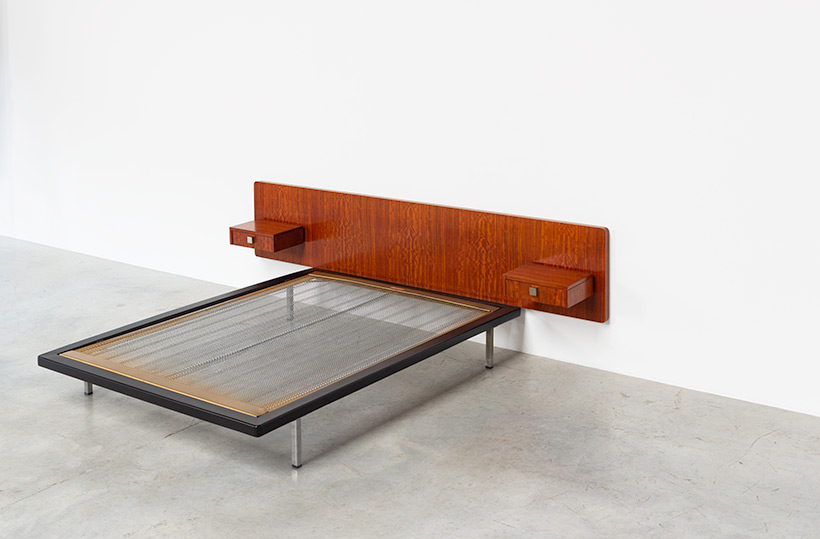 Alfred Hendrickx rosewood double bed DB 150 Belform 1960 img 3