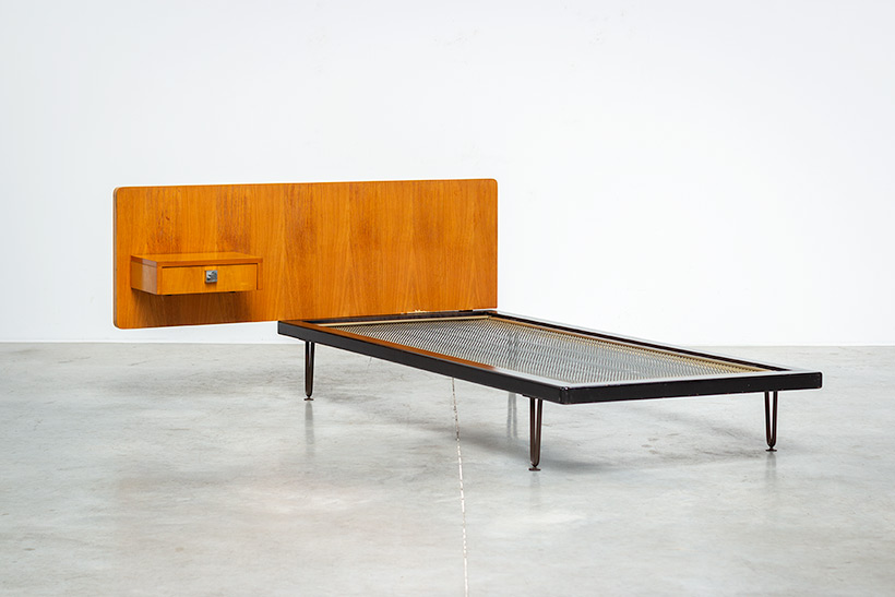 Alfred Hendrickx single bed for Belform 1950s img 3