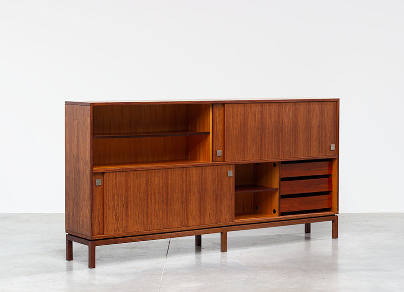 Alfred Hendrickx two level sideboard or highboard for Belform 1960s img 5