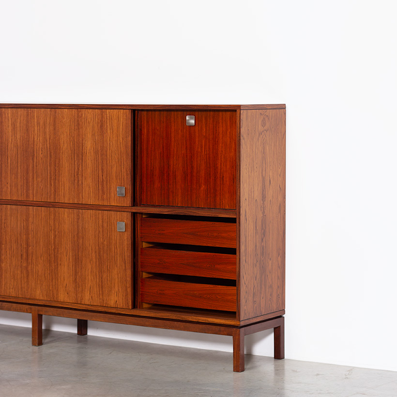 Alfred Hendrickx two level sideboard or highboard for Belform 1960s img 6