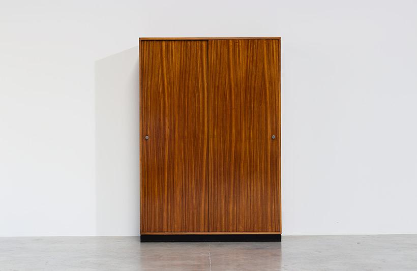 Alfred Hendrickx wardrobe Belform in Zebrano wood 1960 img 3