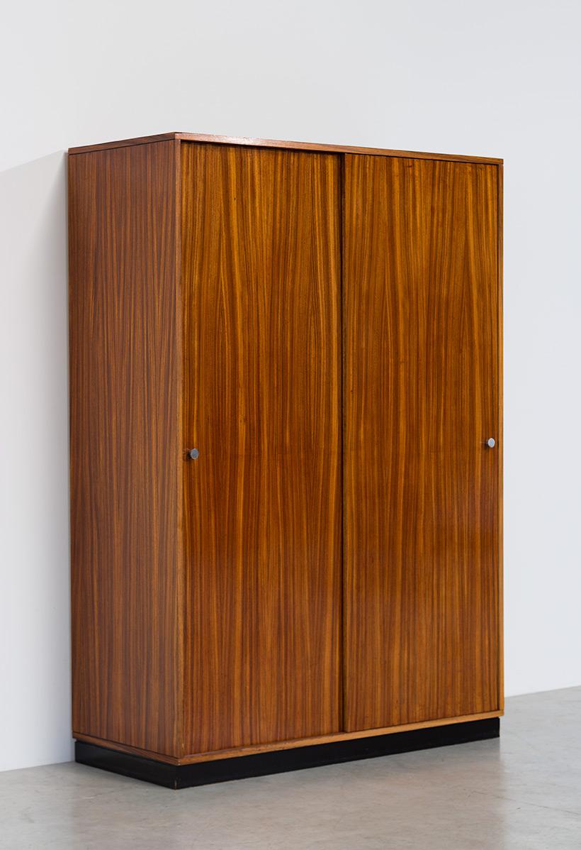 Alfred Hendrickx wardrobe Belform in Zebrano wood 1960 img 4