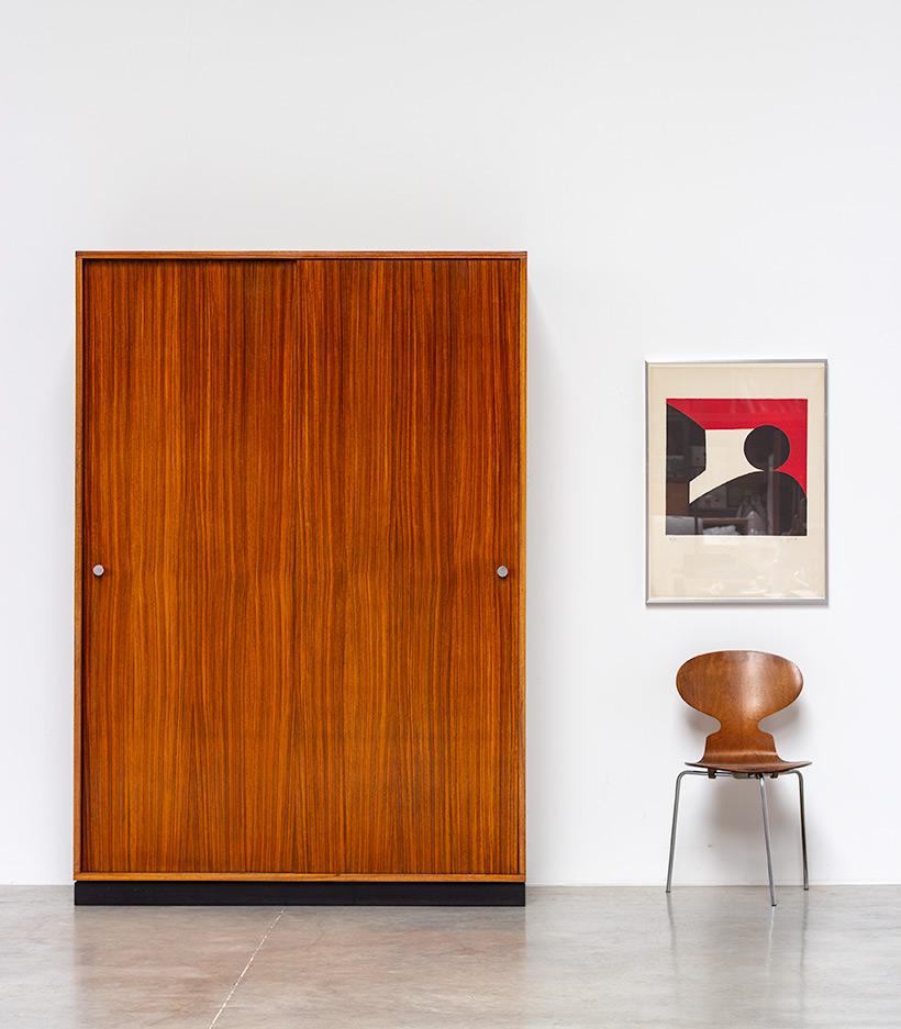 Alfred Hendrickx Zebrano wood wardrobe for Belform 1960 img 3