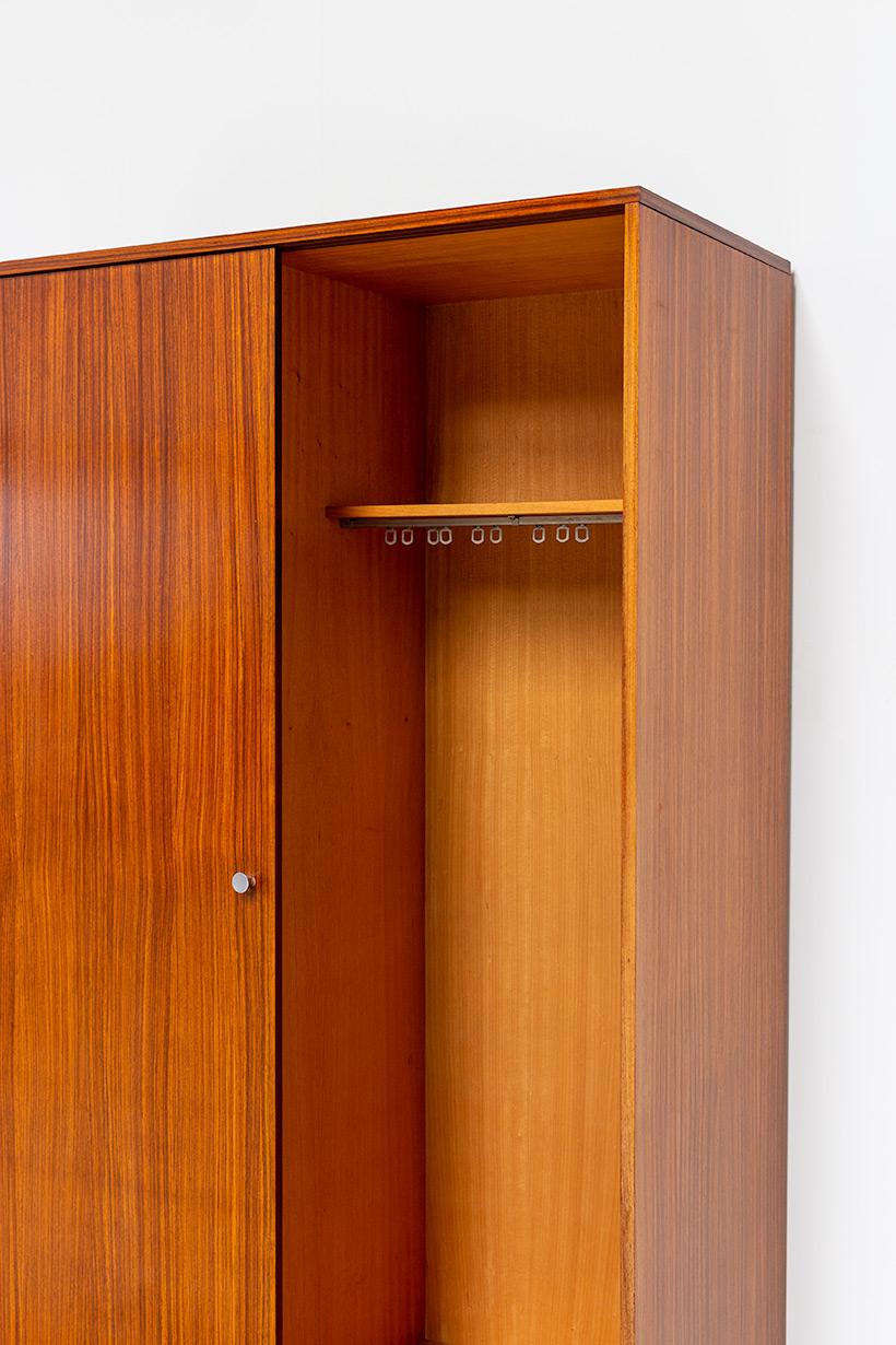 Alfred Hendrickx Zebrano wood wardrobe for Belform 1960 img 9