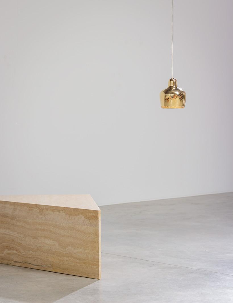 Alvar Aalto Golden Bell brass ceiling light for Louis Poulsen