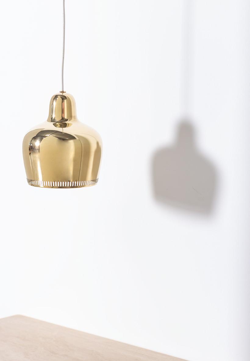 Alvar Aalto Golden Bell brass ceiling light for Louis Poulsen img 3