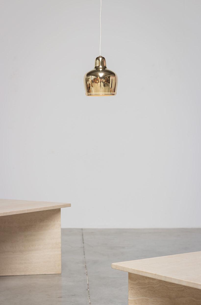 Alvar Aalto Golden Bell brass ceiling light for Louis Poulsen img 4