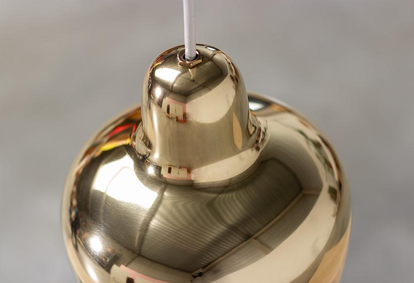 Alvar Aalto Golden Bell brass ceiling light for Louis Poulsen img 5