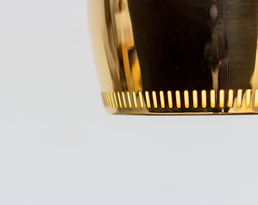 Alvar Aalto Golden Bell brass ceiling light for Louis Poulsen img 6