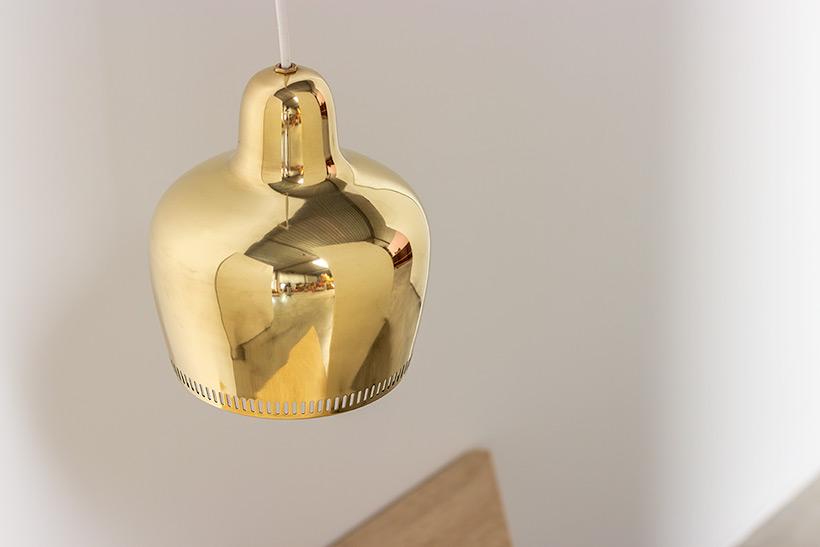 Alvar Aalto Golden Bell brass ceiling light for Louis Poulsen img 7