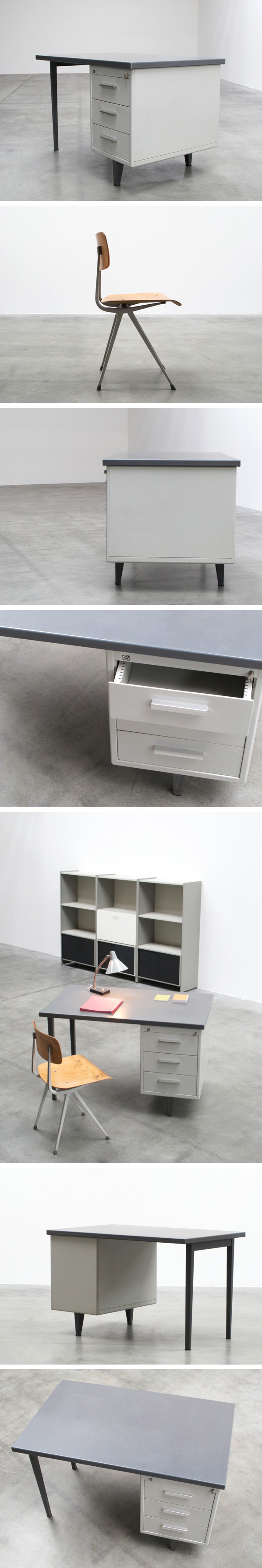 Andre Cordemeijer 7800 Industrial desk for Gispen Large