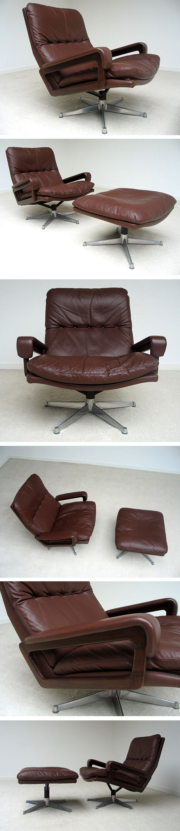 Andre Vandenbeuck Lounge King Chair and Ottoman Large