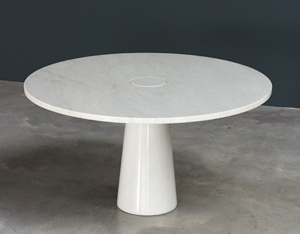 Angelo Mangiarotti Eros Carrara marble dinning table Skipper