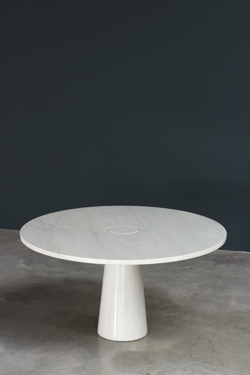 Angelo Mangiarotti Eros Carrara marble dinning table Skipper