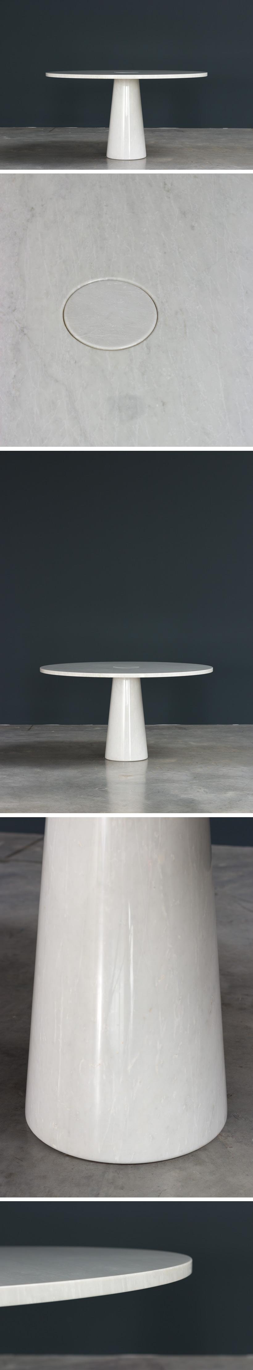 Angelo Mangiarotti Eros Carrara marble dinning table Skipper Large