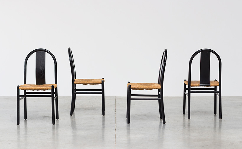 Annig Sarian set of 4 dinning chairs with rush seats T70 Italy 1970 img 6