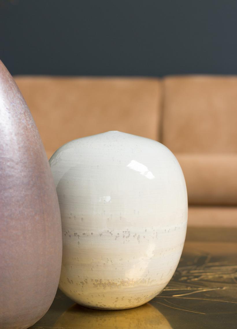 Antonio Lampecco hand thrown ceramic vase Large