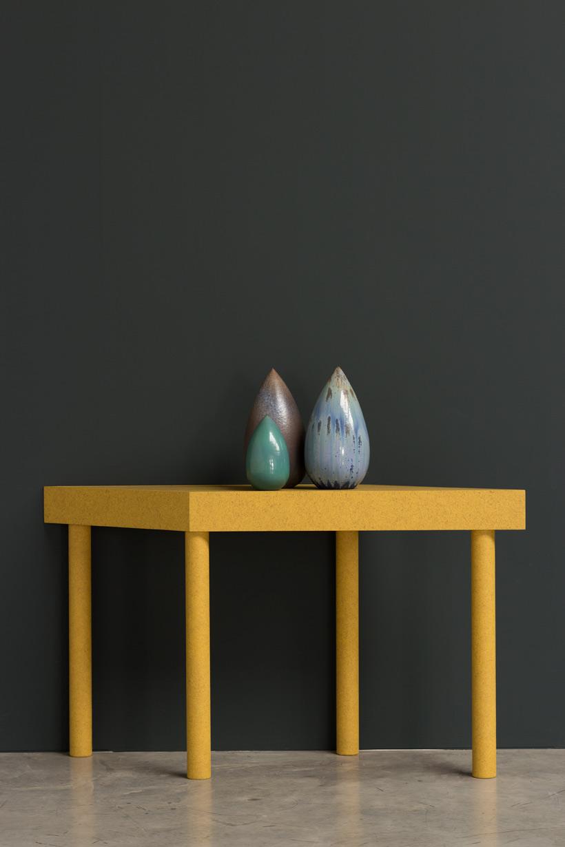 Antonio Lampecco oxidized green vase