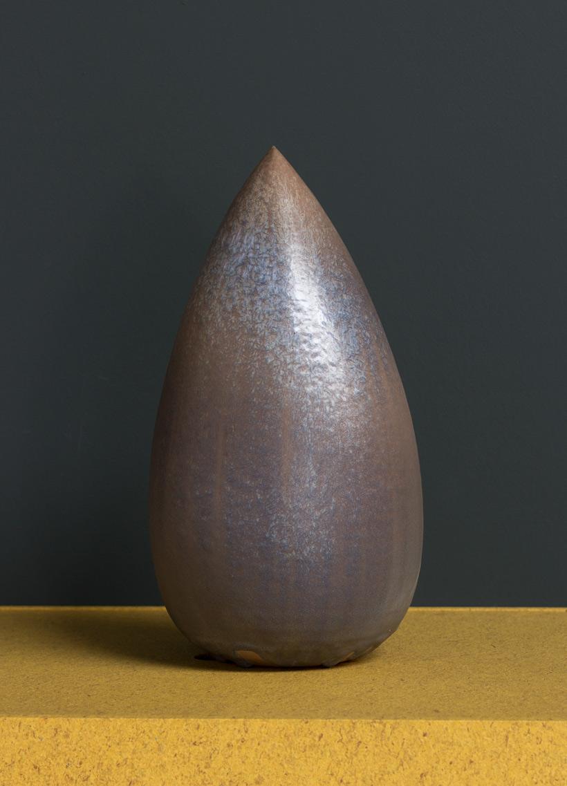 Antonio Lampecco oxidized grey vase