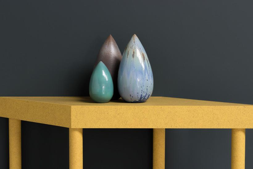 Antonio Lampecco oxidized grey vase Large