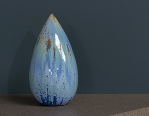 Antonio Lampecco oxidized vase