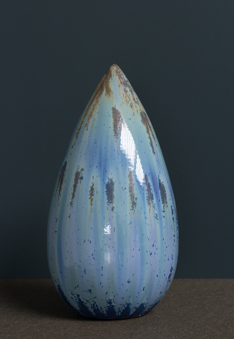 Antonio Lampecco oxidized vase Large