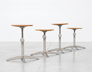 Architect swivel stools designed by Friso Kramer