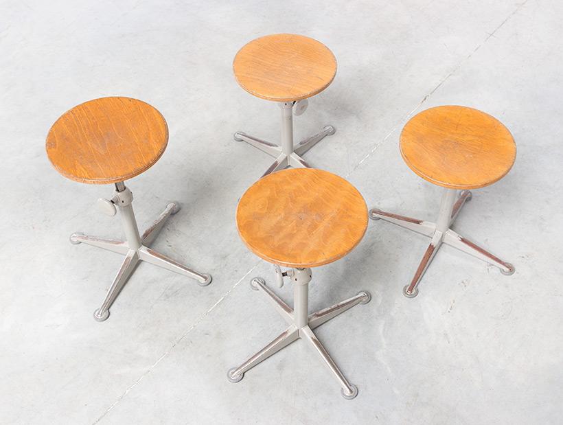 Architect swivel stools designed by Friso Kramer img 4