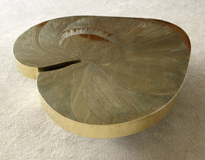 Armand Jonckers brass etched cocktail coffee table