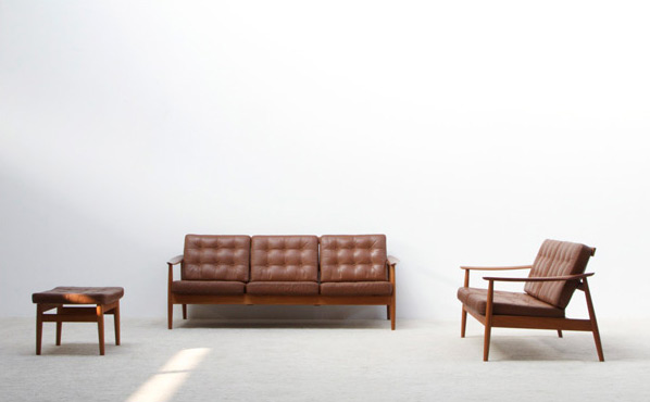 Arne Vodder leather living scape for France and Son