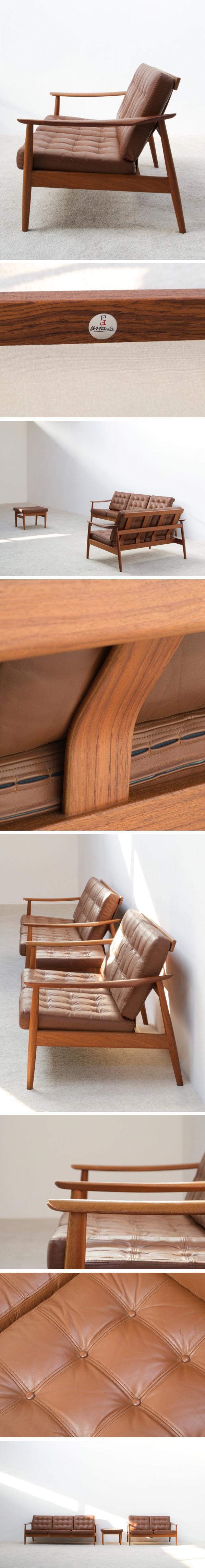 Arne Vodder leather living scape for France and Son Large