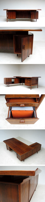 Arne Vodder Office desk Sibast Furniture 1955 Large