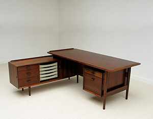 Arne Vodder rosewood office desk Sibast Furniture 1955