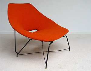Augusto Bozzi Saporiti side chair 1950