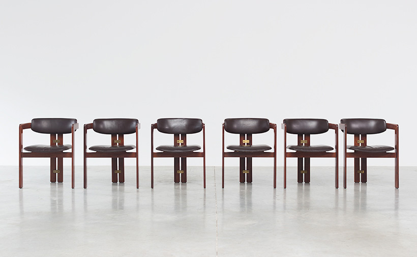 Augusto Savini Pamplona Dinning Chairs for Pozzi 1965 set of six Chairs img 4
