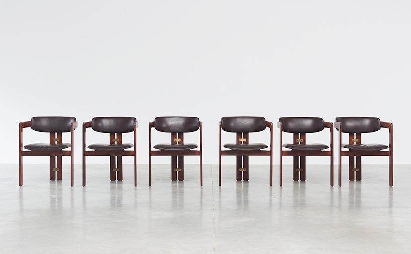 Augusto Savini Pamplona Dinning Chairs for Pozzi 1965 set of six Chairs img 4