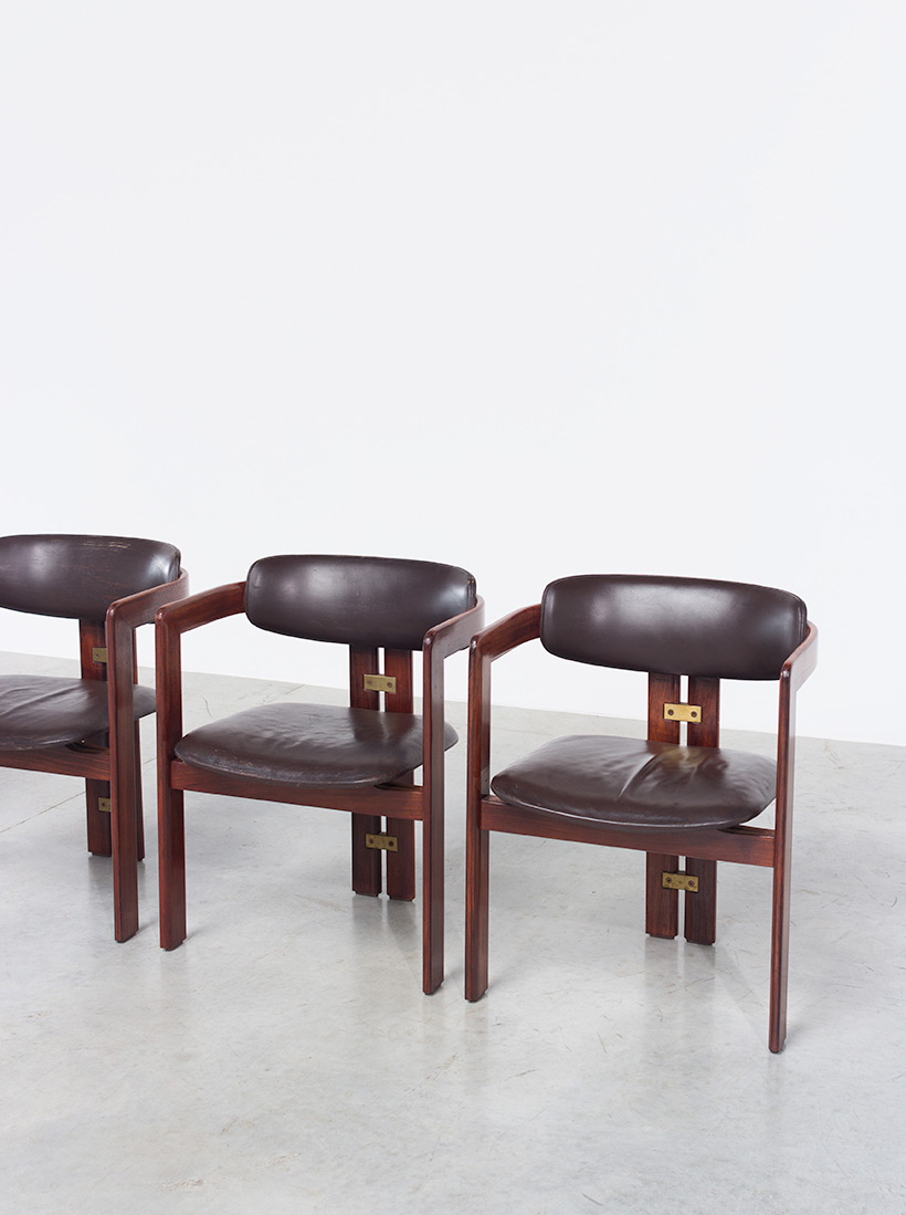 Augusto Savini Pamplona Dinning Chairs for Pozzi 1965 set of six Chairs img 5