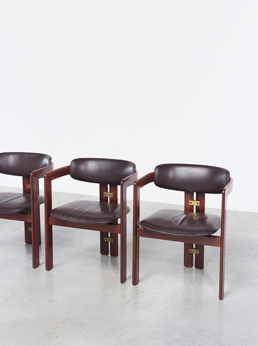 Augusto Savini Pamplona Dinning Chairs for Pozzi 1965 set of six Chairs img 5