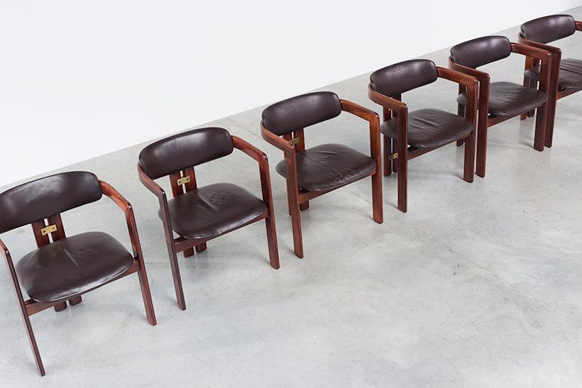 Augusto Savini Pamplona Dinning Chairs for Pozzi 1965 set of six Chairs img 6
