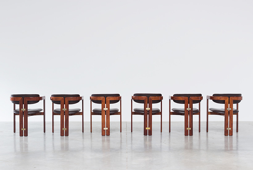 Augusto Savini Pamplona Dinning Chairs for Pozzi 1965 set of six Chairs img 7