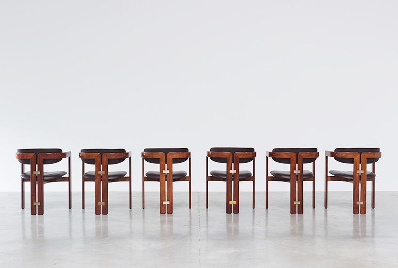 Augusto Savini Pamplona Dinning Chairs for Pozzi 1965 set of six Chairs img 7